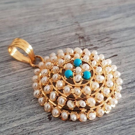 Pearl & Turquoise Pendant